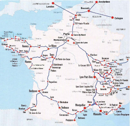 Maps Of France France Travel Info